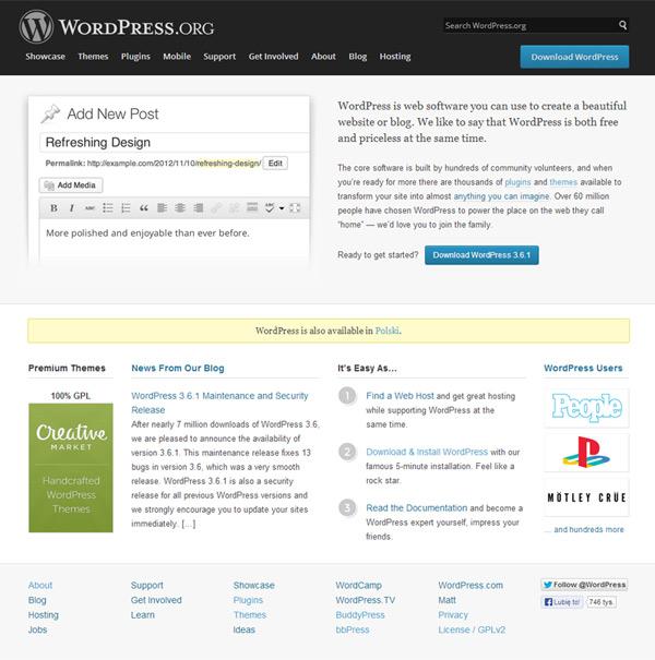 Wordpress.org - strona główna